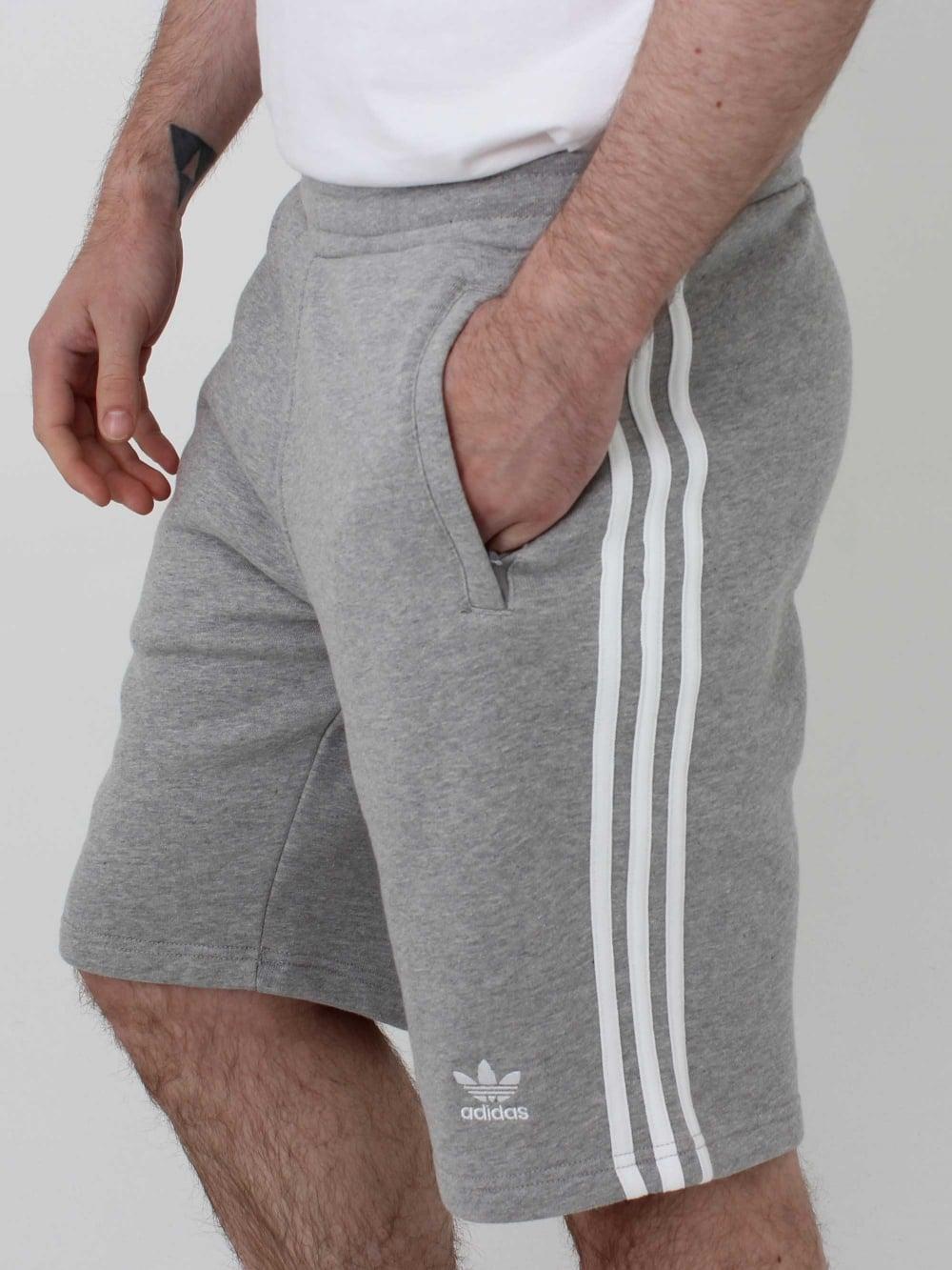 adidas Originals 3 Stripe Short Grey