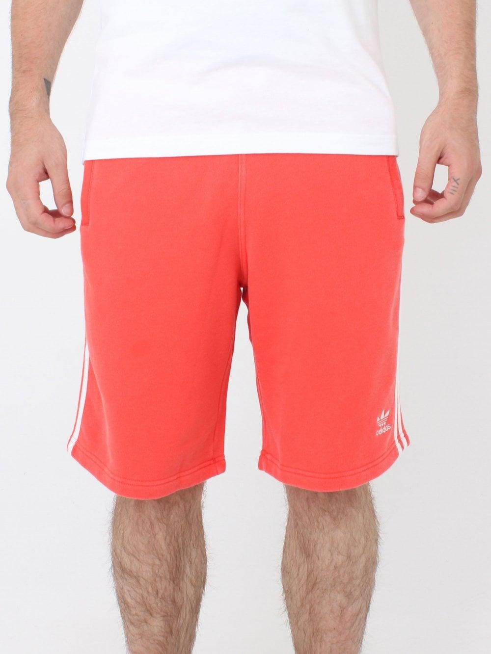 efc1ac42d1 Adidas 3 Stripe Shorts in Bright Red | Northern Threads