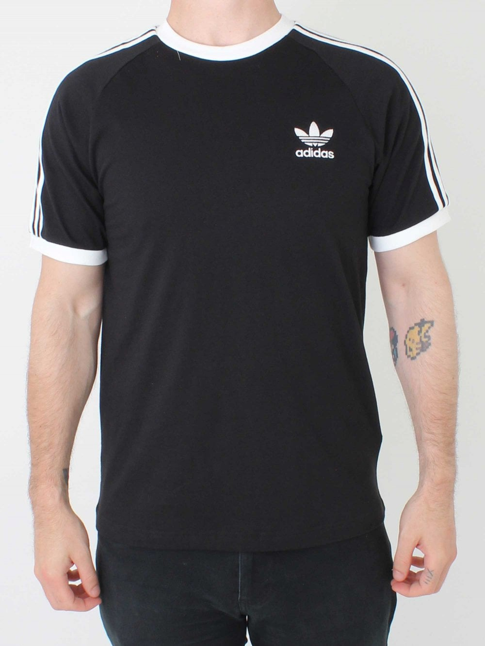 f090279935b Adidas 3 Stripes T.shirt in Black | Northern Threads