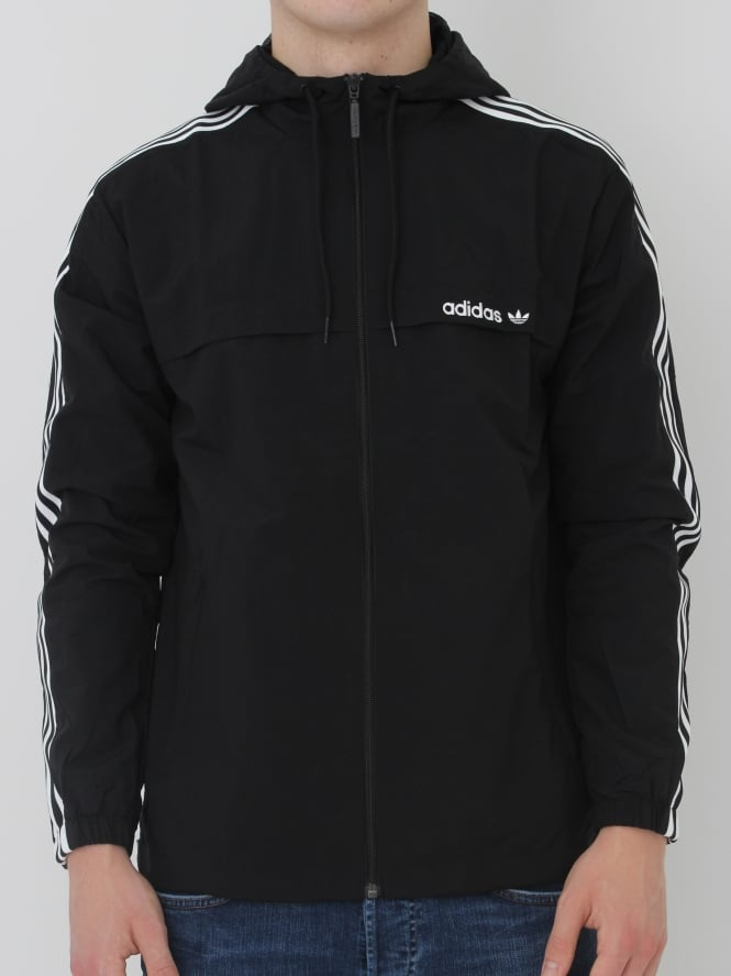 adidas Originals 3 Striped Windbreaker - Black
