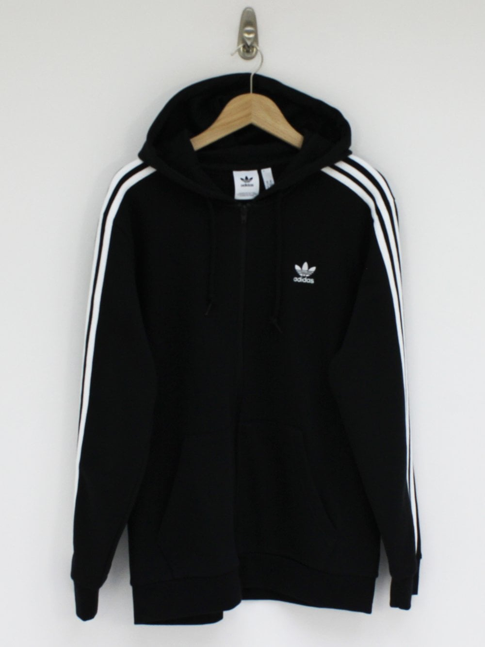 Black 3 Stripes FZ Jacket