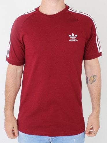 3 Stripes T.Shirt - Burgundy