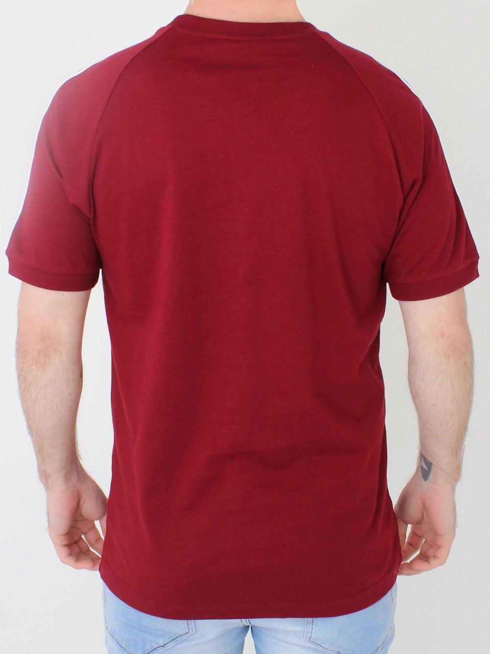 77452fdc71 Adidas 3 Stripes T.Shirt in Burgundy | Northern Threads