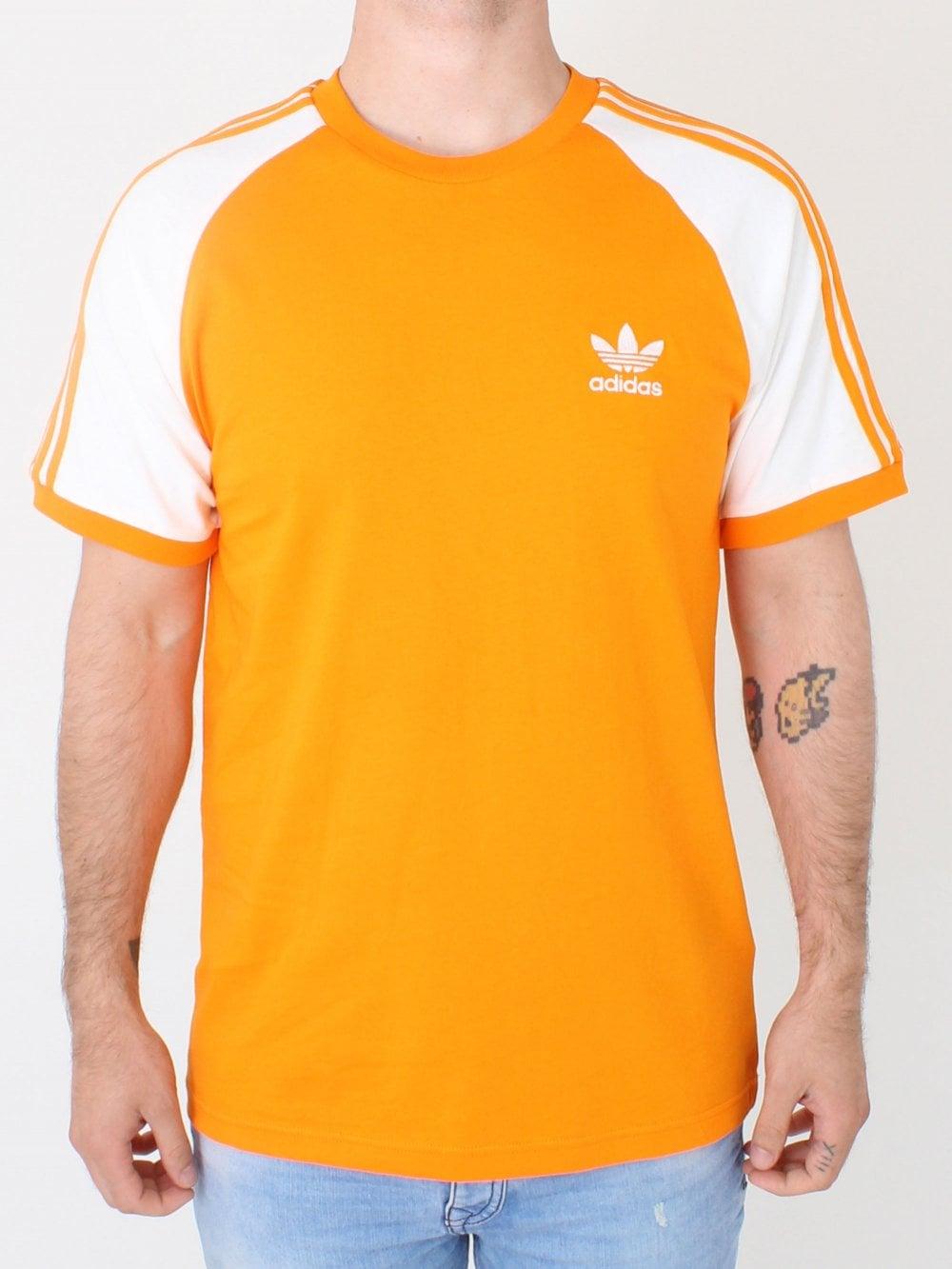 bda94036e84de Adidas 3 Stripe T.shirt in Orange