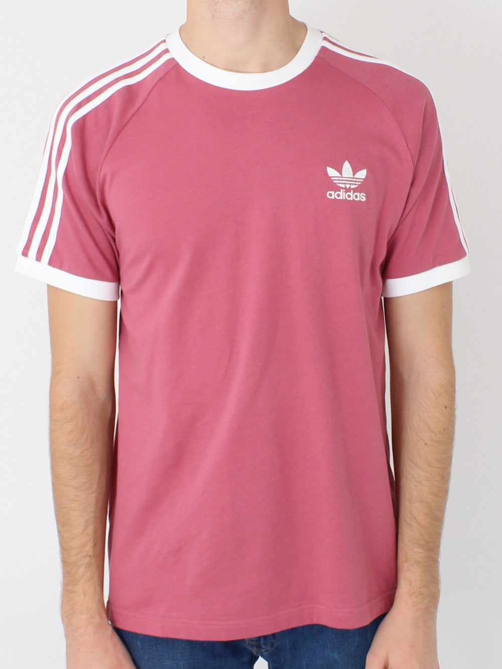 3a8d0e153c Adidas 3 Stripes T.Shirt in Pink Mist | Northern Threads