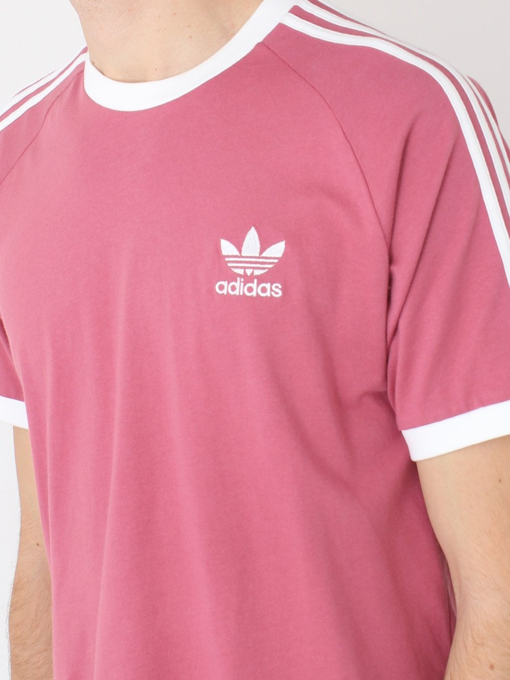 46cf2d36a9 Adidas 3 Stripes T.Shirt in Pink Mist | Northern Threads