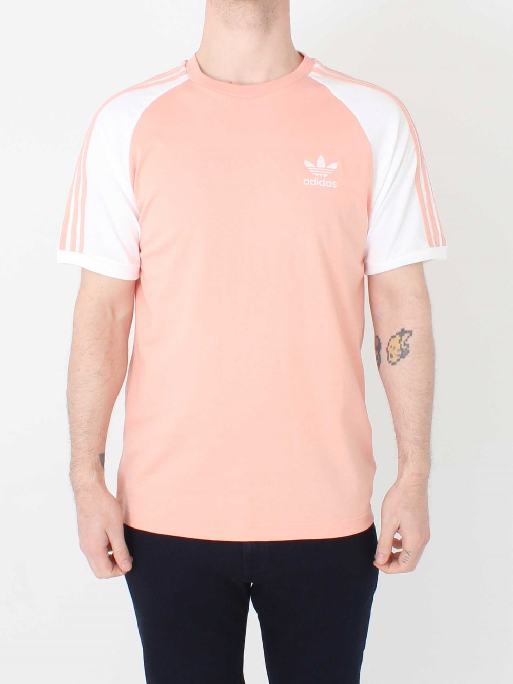 770e5b5262 Adidas 3 Stripes T.Shirt in Pink | Northern Threads