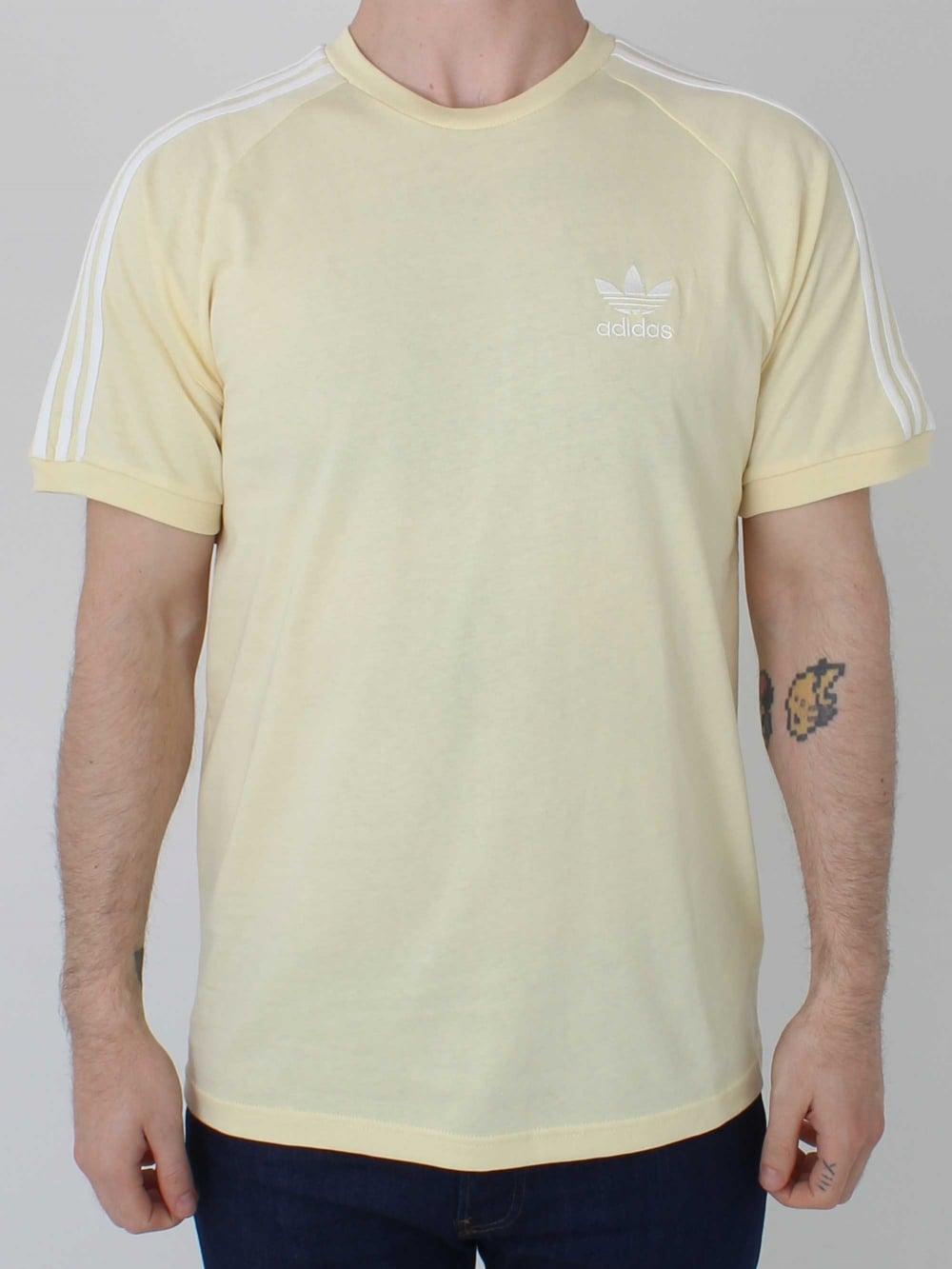 742af6851db33 Adidas 3 Stripes T.Shirt in Sun | Northern Threads