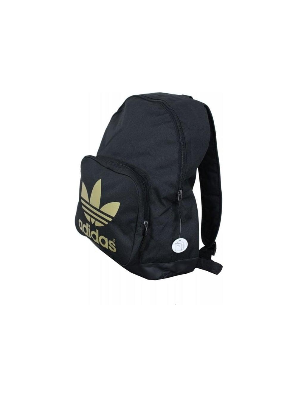 a8da17cd585f Adidas Originals AC Classic Backpack in Black Gold - Northern Threads