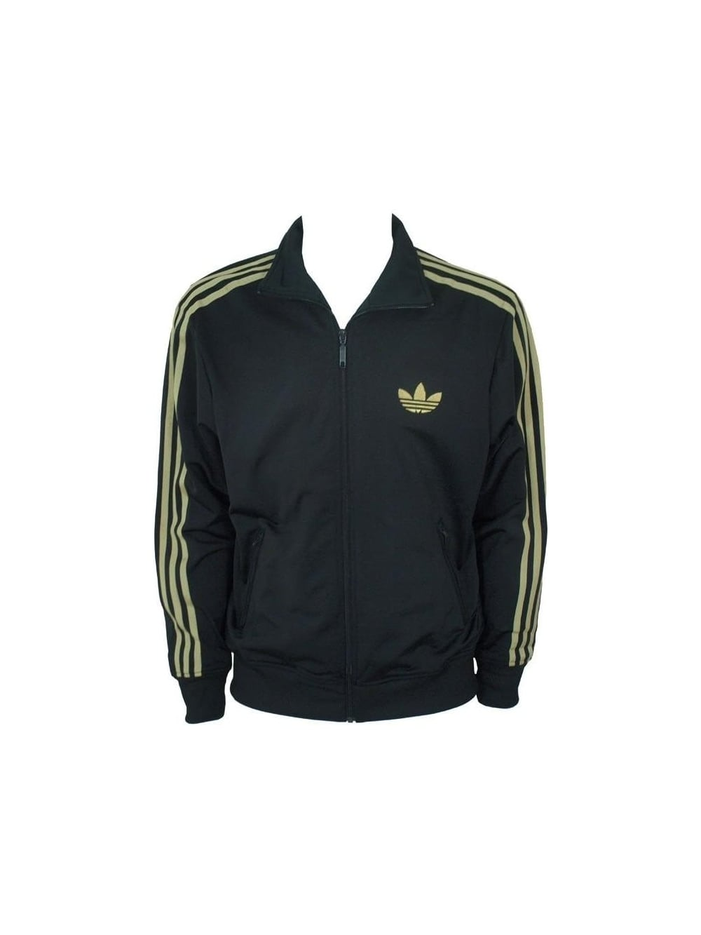 Adi Firebird Track Top Black Gold