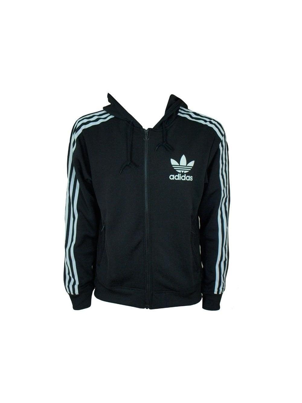 2e45ba0375 Adidas Originals Adi Hooded Flock Jacket in Black - Shop Adidas ...