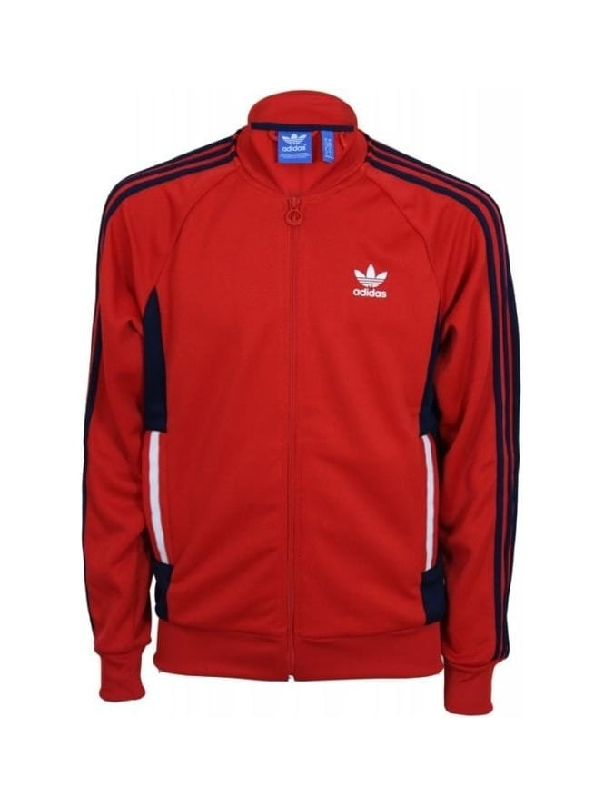 separation shoes 77be0 04fde Adidas Summer Superstar Track Jacket - Red