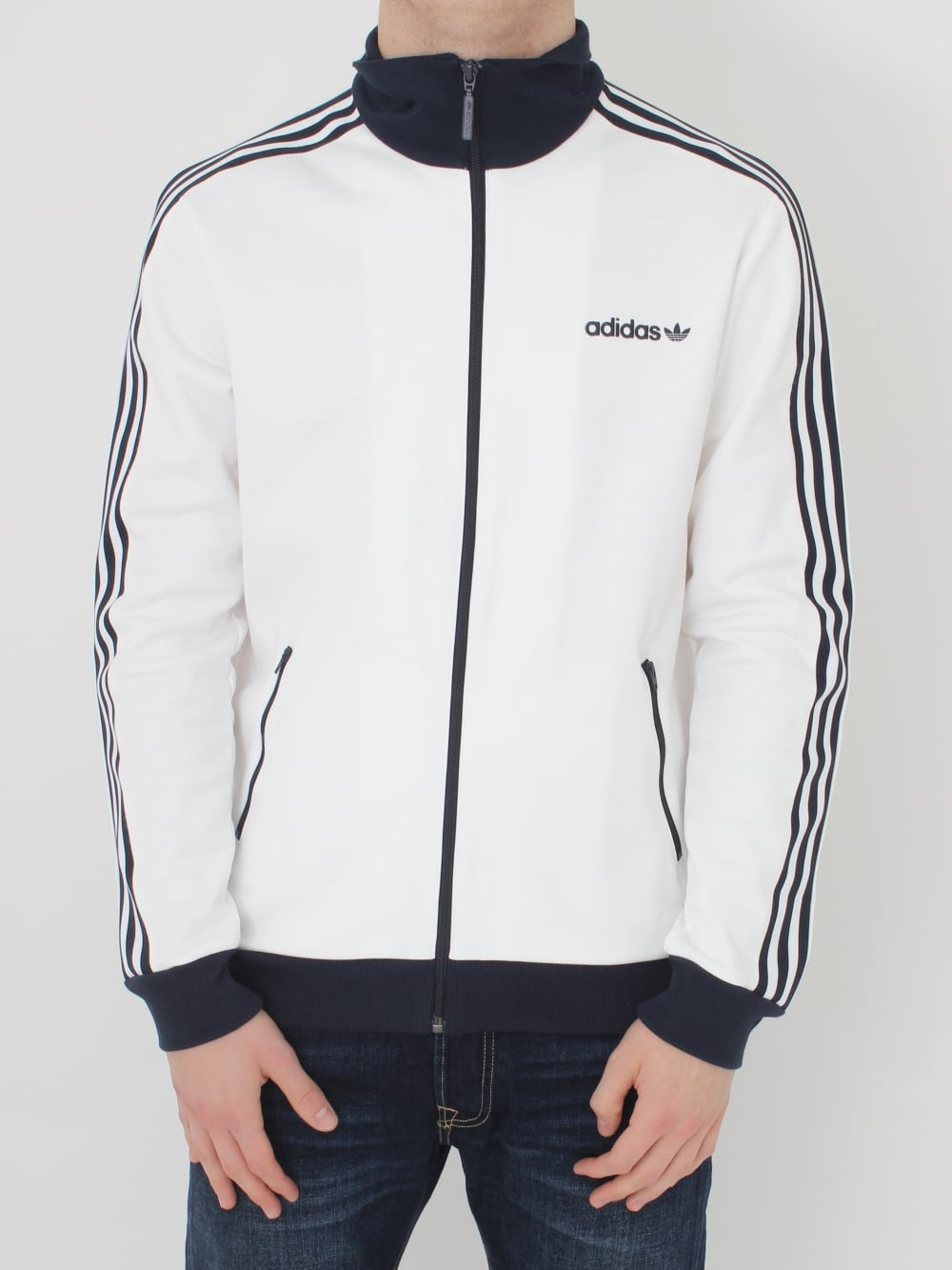 adidas originals white track top