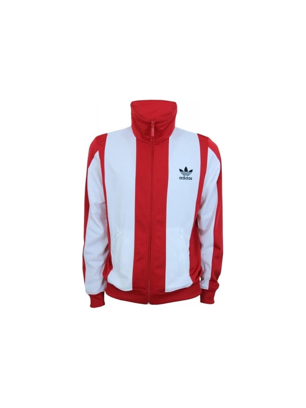 efe3c21fab Adidas Beckenbauer Track Top in White Red - Northern Threads