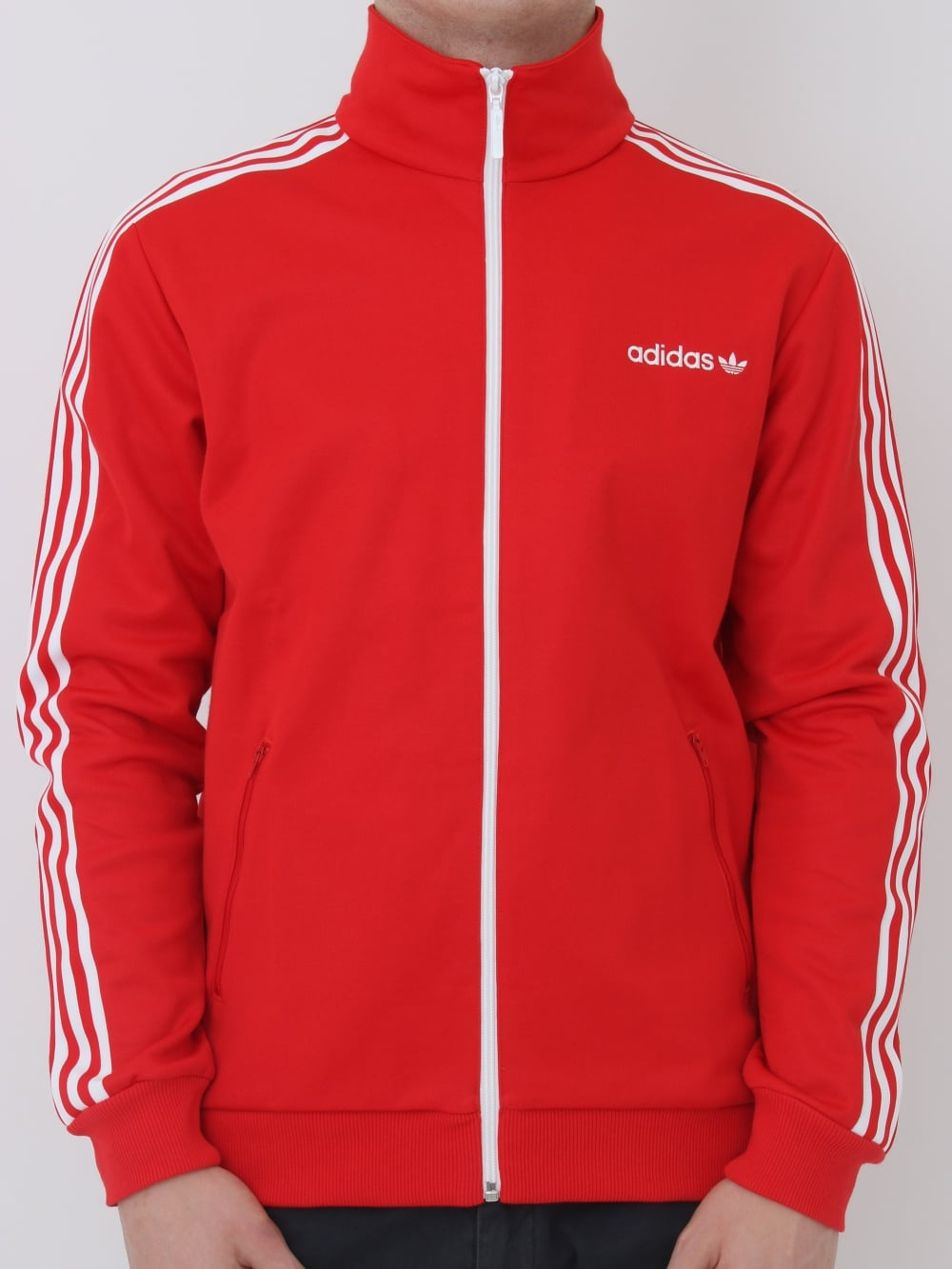 adidas Originals Beckenbauer Tracktop in Red - Northern Threads c0c459f34