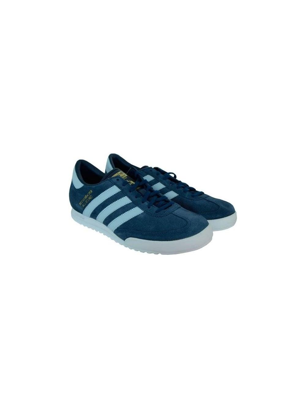 1c135c15f3ef Adidas Beckenbauer Trainer in Indigo White - Shop Adidas Originals ...