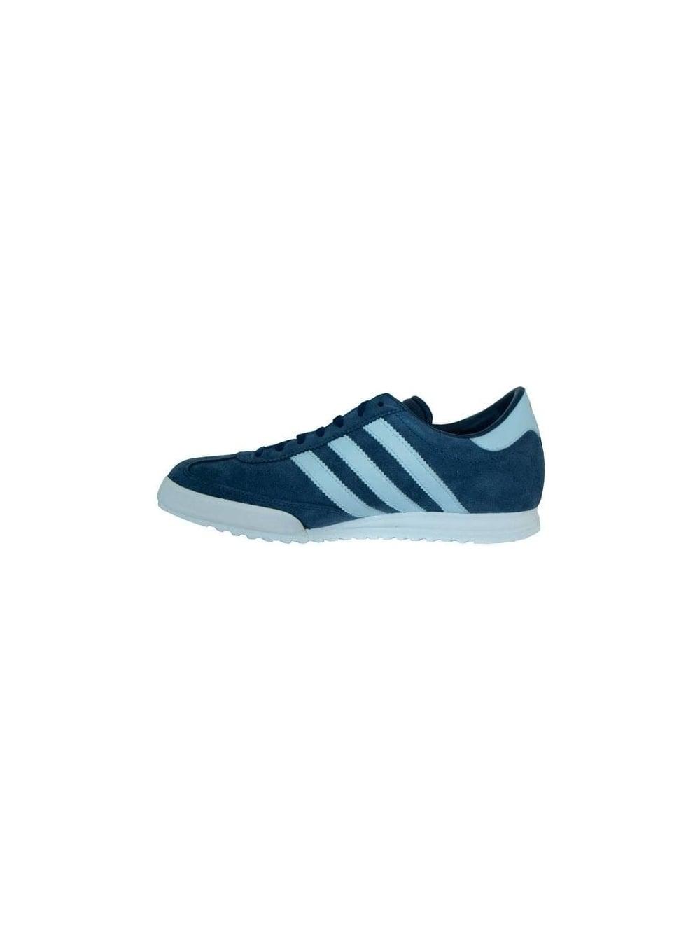 85007af52 Adidas Beckenbauer Trainer in Indigo/White - Shop Adidas Originals ...
