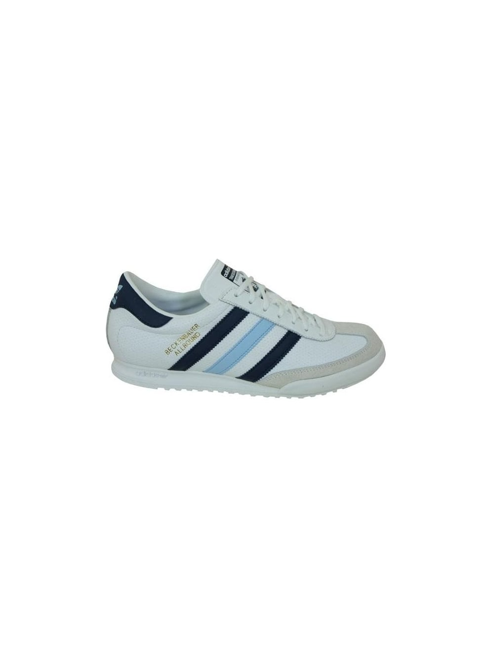 1d68f9ad84e Adidas Originals Beckenbauer Trainers in White Navy - Northern Threads