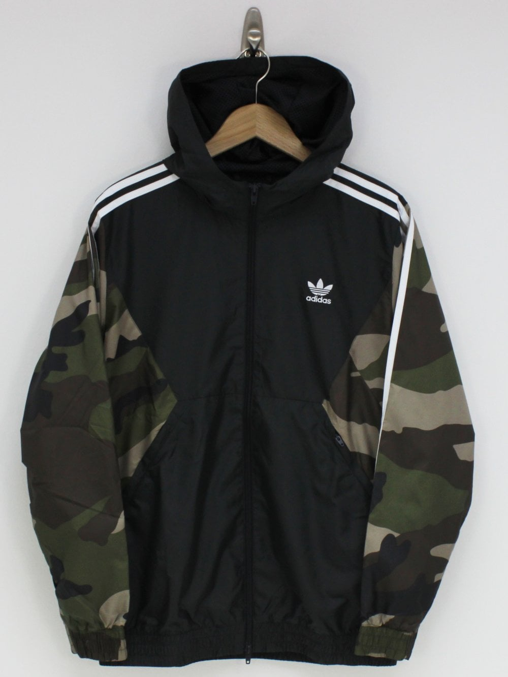 0ae2912731f758 adidas Camo Windbreaker in Utility Black | Northern Threads