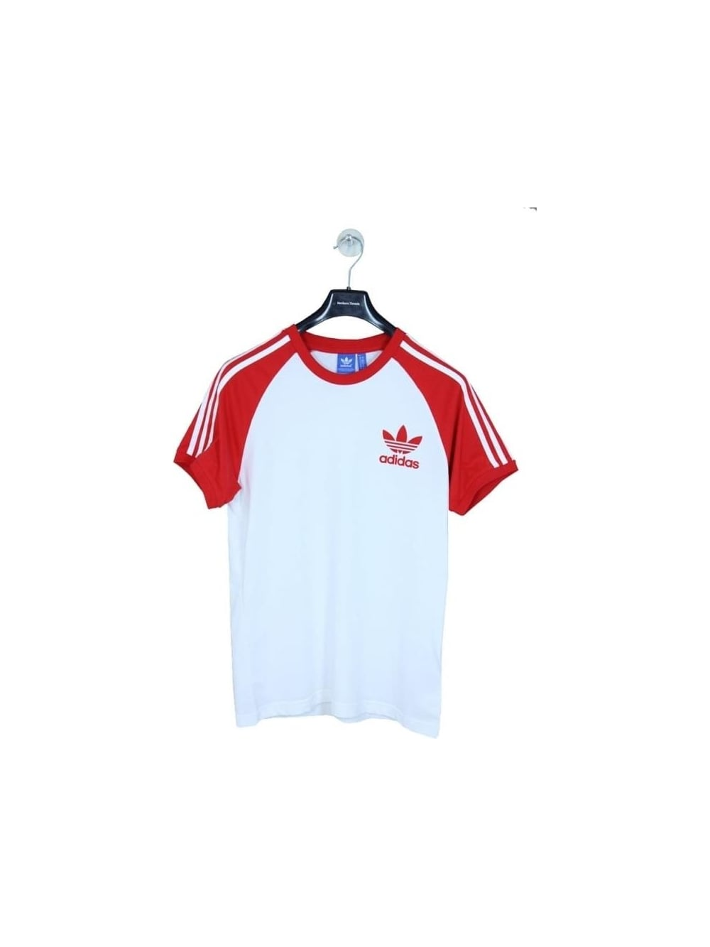 7346bf172613 adidas CLFN tee in White/Red - Northern Threads