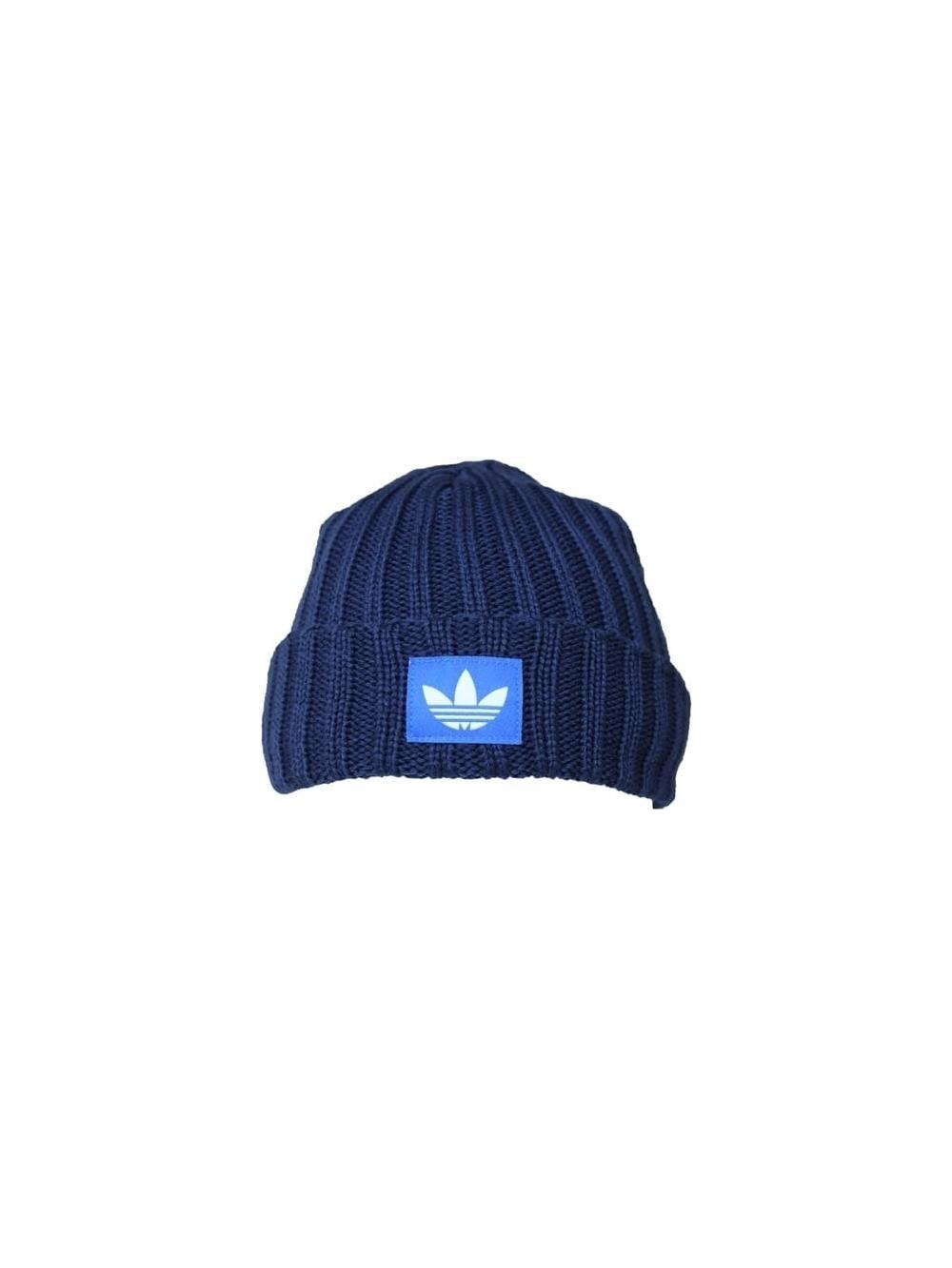 bcc5fdebafb adidas FM Beanie Trefoil Hat in Navy - Northern Threads