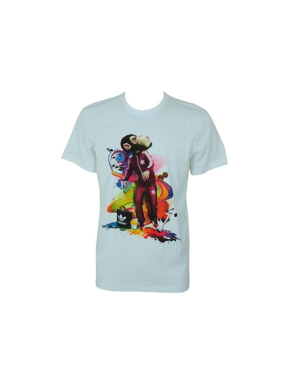 Noorden Adidas Op In Monkey Witte Het Winkel originelen G T shirt OvmnN80w