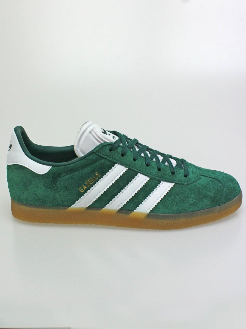 Adidas Gazelle in Green/White