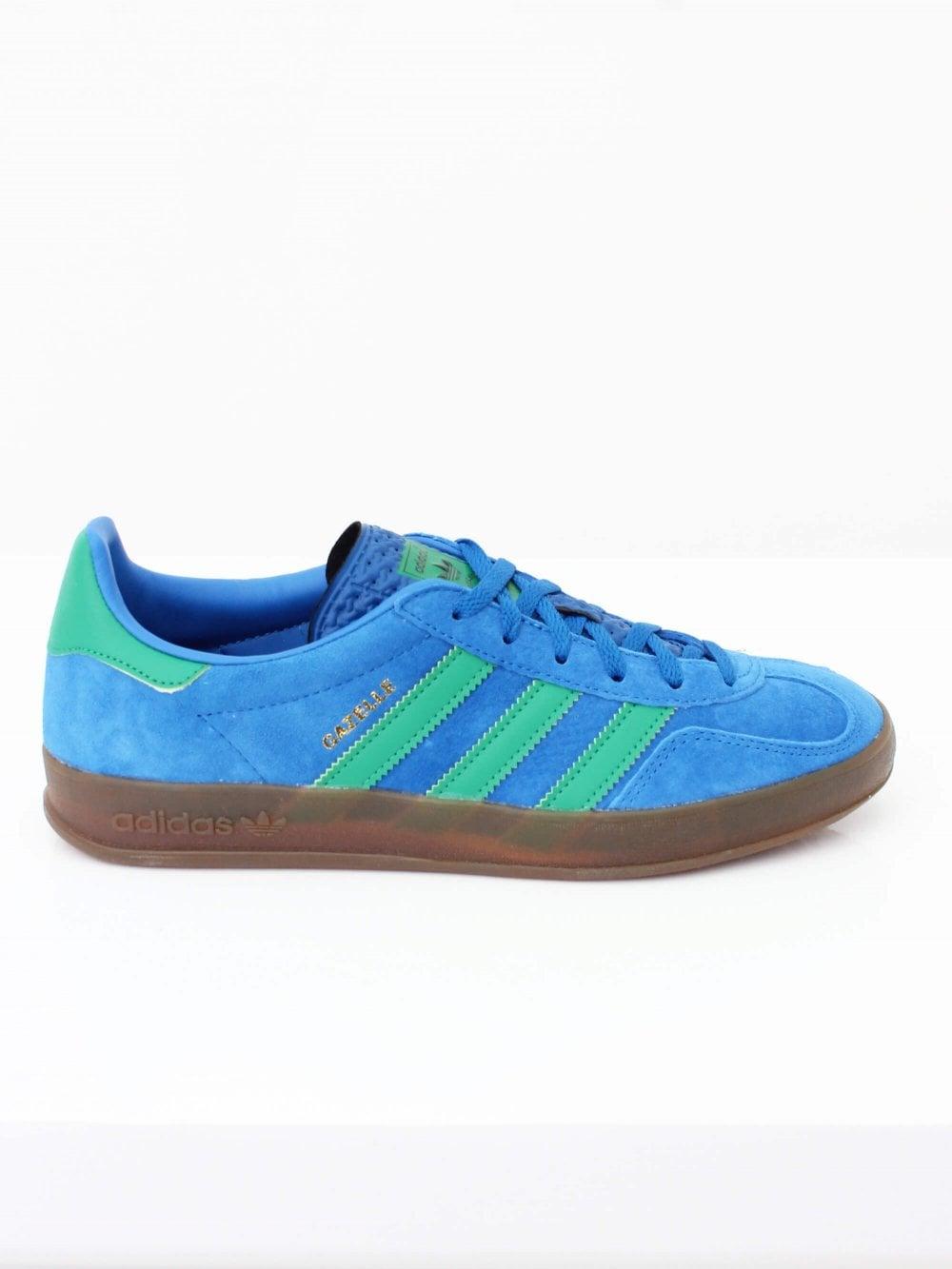 adidas Gazelle Indoor in Blue/Green