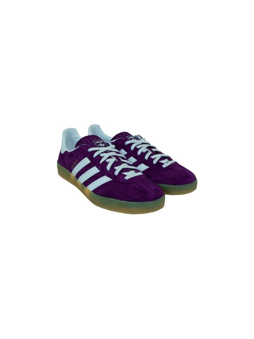 Hacer un muñeco de nieve tener Interesante  Adidas Originals Gazelle Indoor Trainers in Purple = Shop Adidas Originals  at Northern Threads