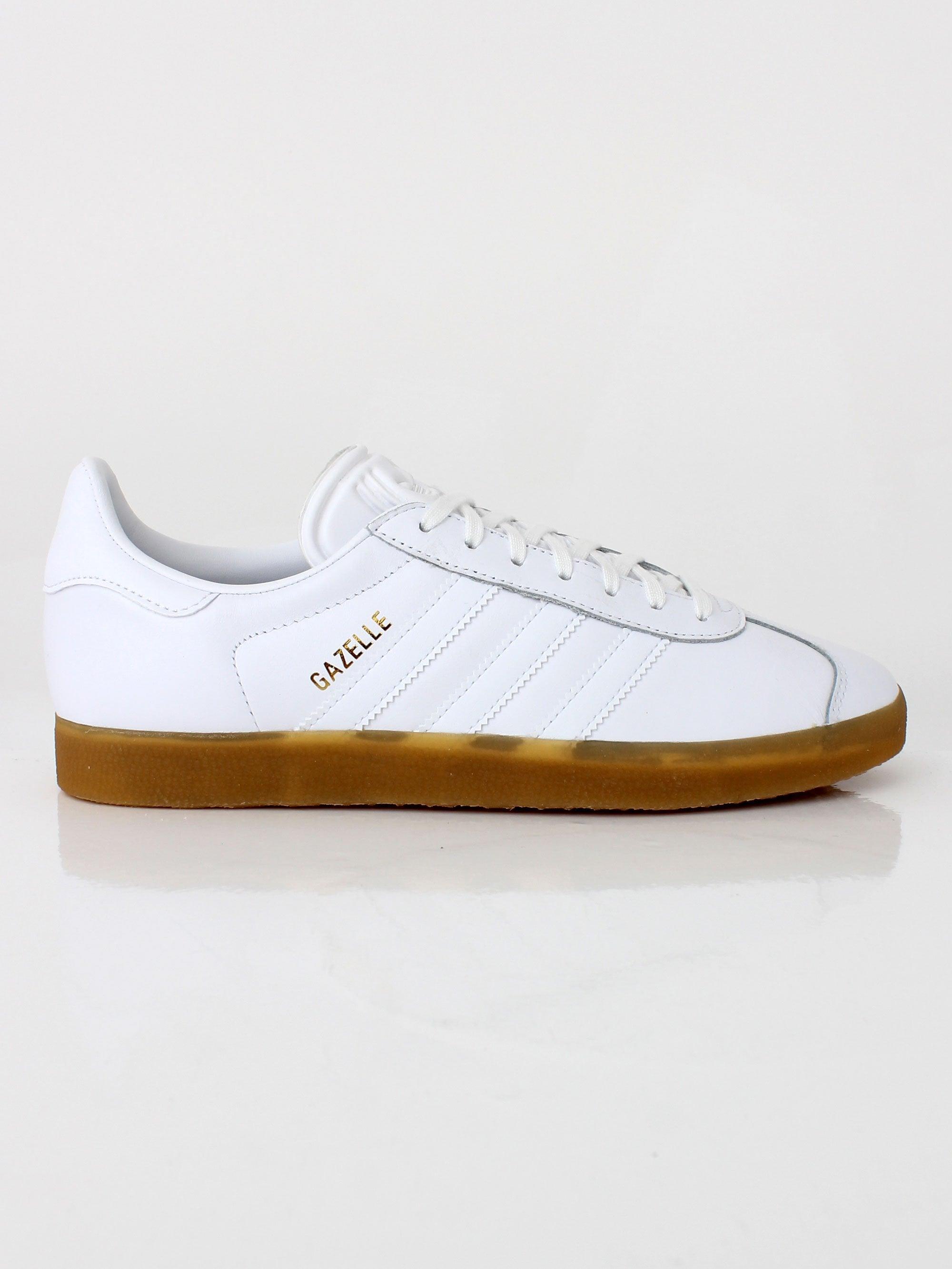 adidas Originals Gazelle - White/Gum