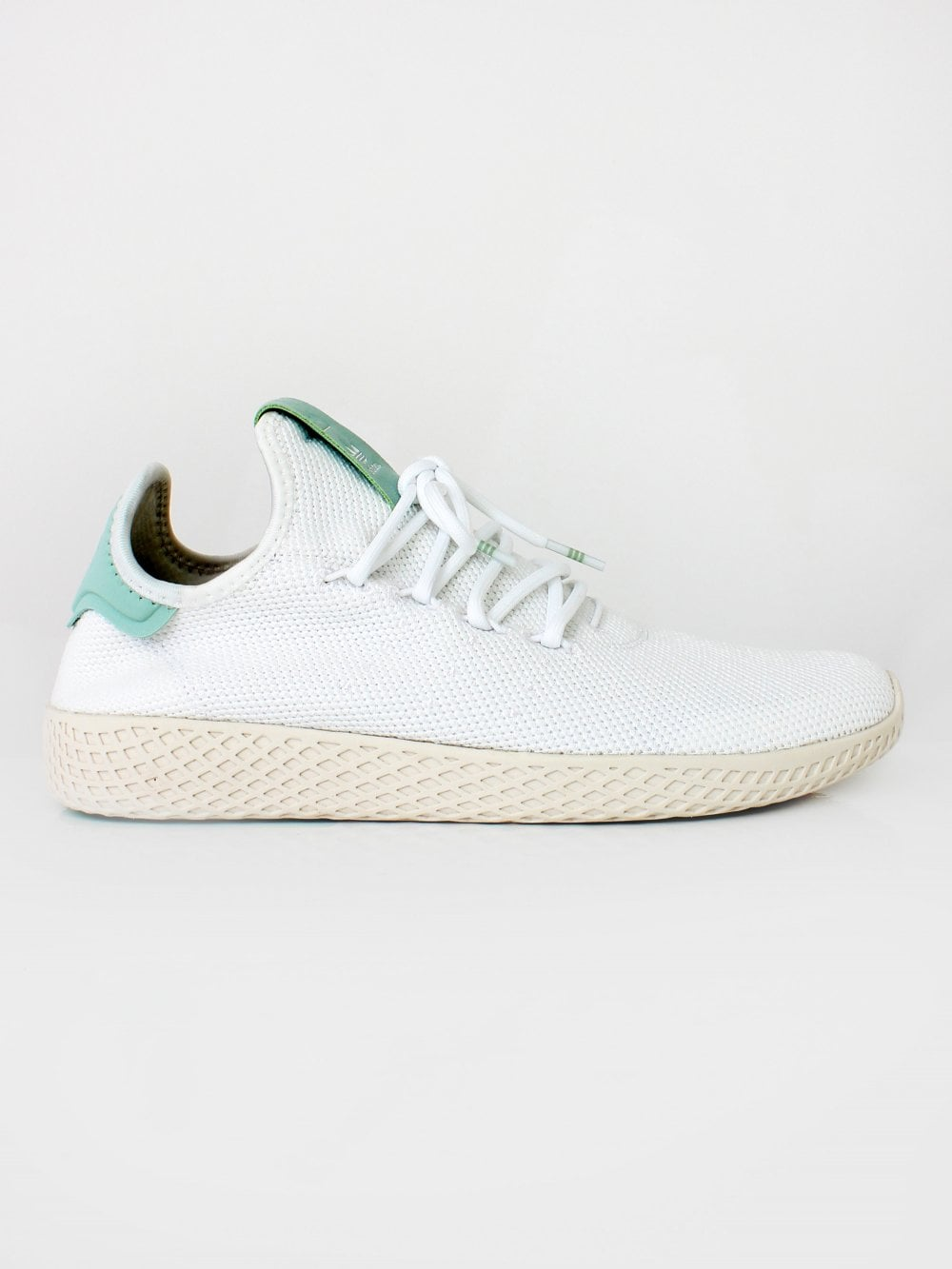 Mens adidas Originals Pharrell Williams Tennis HU Trainer - White ... 4ba4b88f5