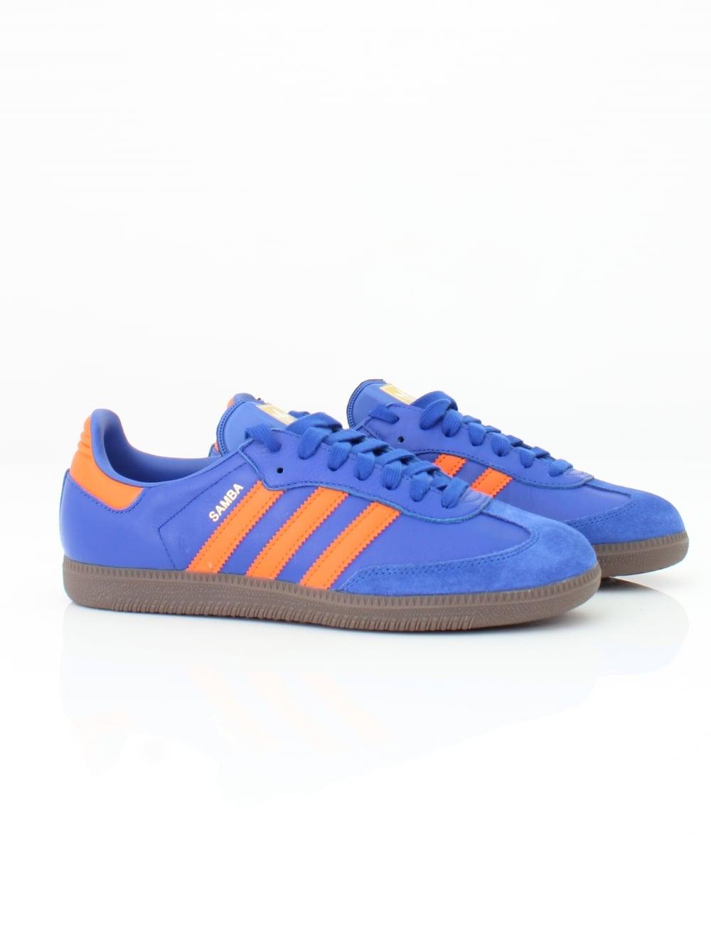 Samba OG Trainer in Blue/Orange