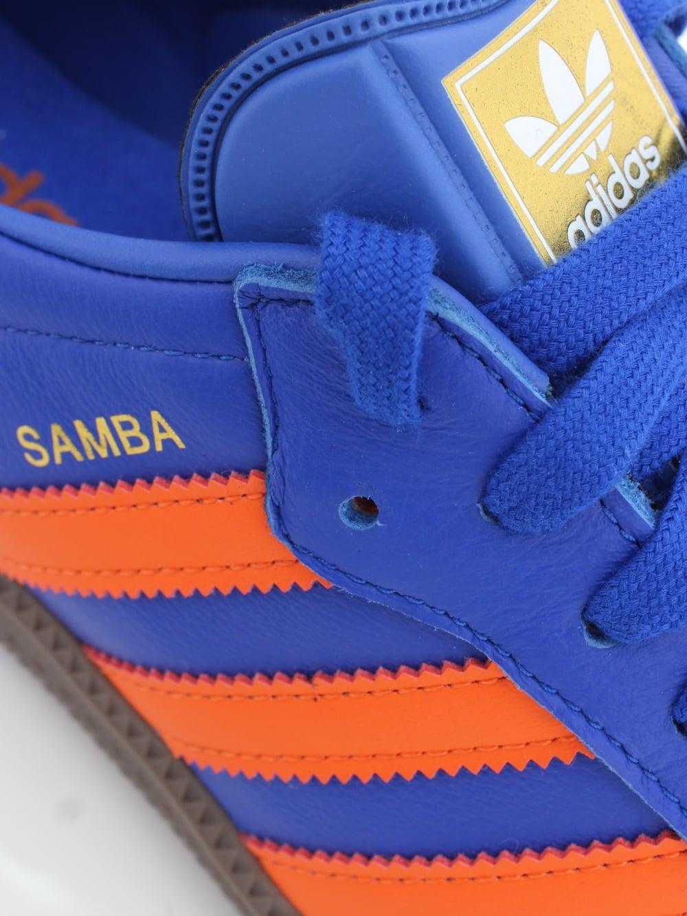 9a76a8c3303da4 adidas Original Samba OG Trainer in Blue Orange - Northern Threads
