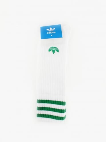 Solid Crew 2 Pack Socks - Green