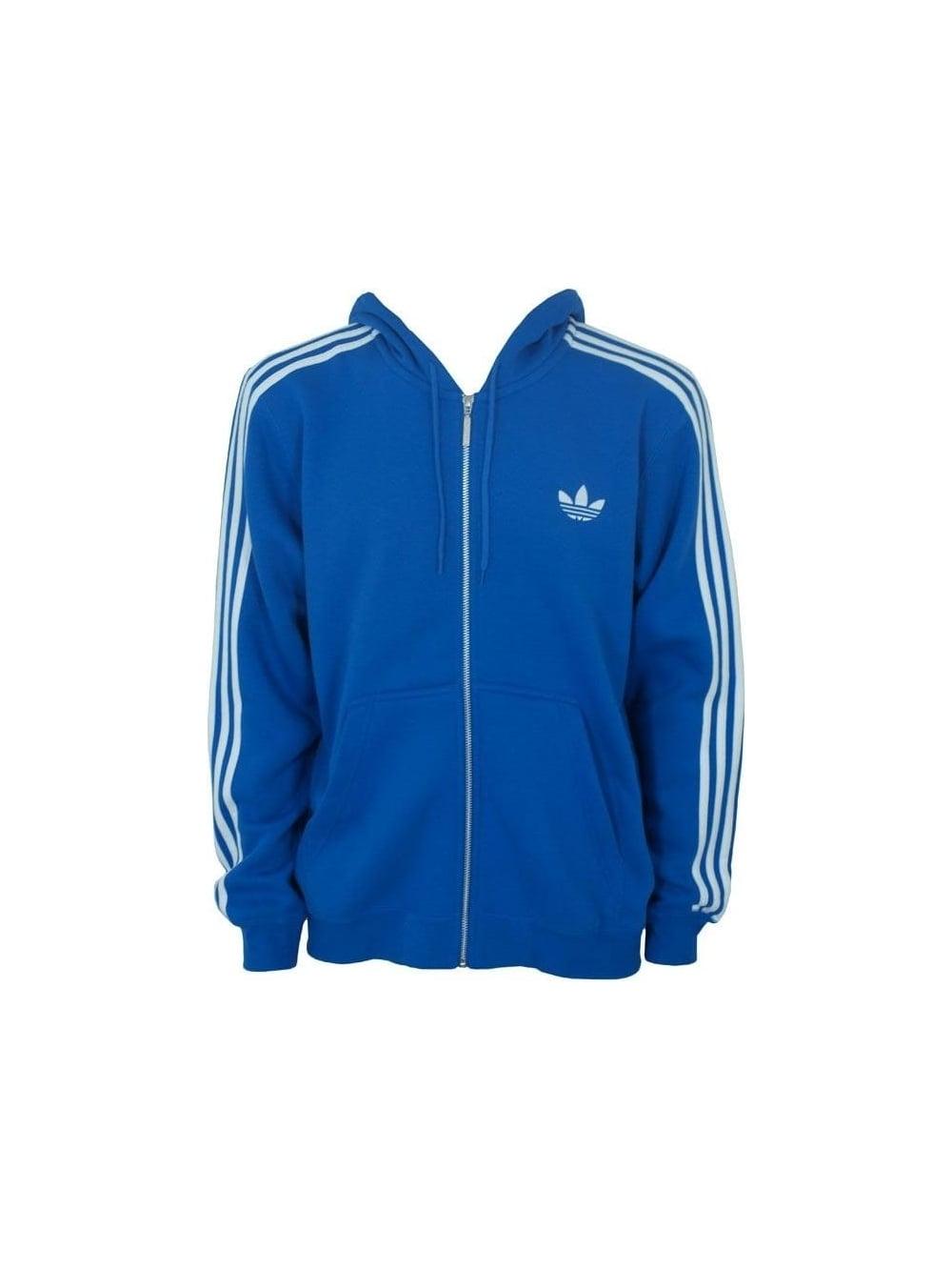 Adidas Spo Hooded Flock Track Top in Bluebird - Shop Adidas ... 2d5241b35