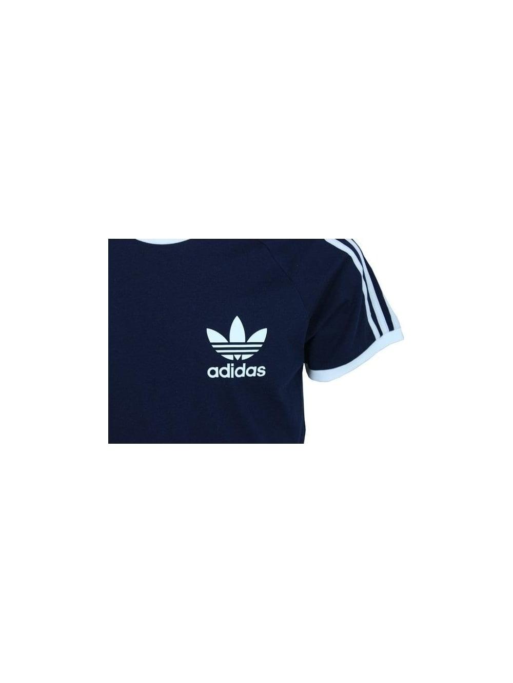 adidas Men's Blue Sport Essential Cotton Crew Neck Blue