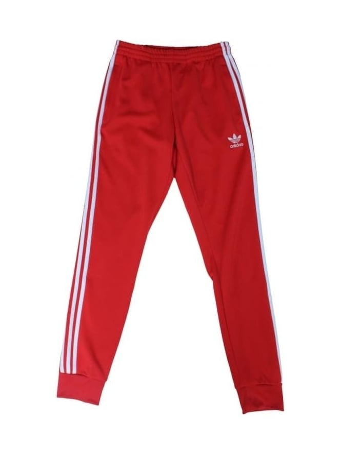 adidas Originals SST Cuffed Track Pants - Red