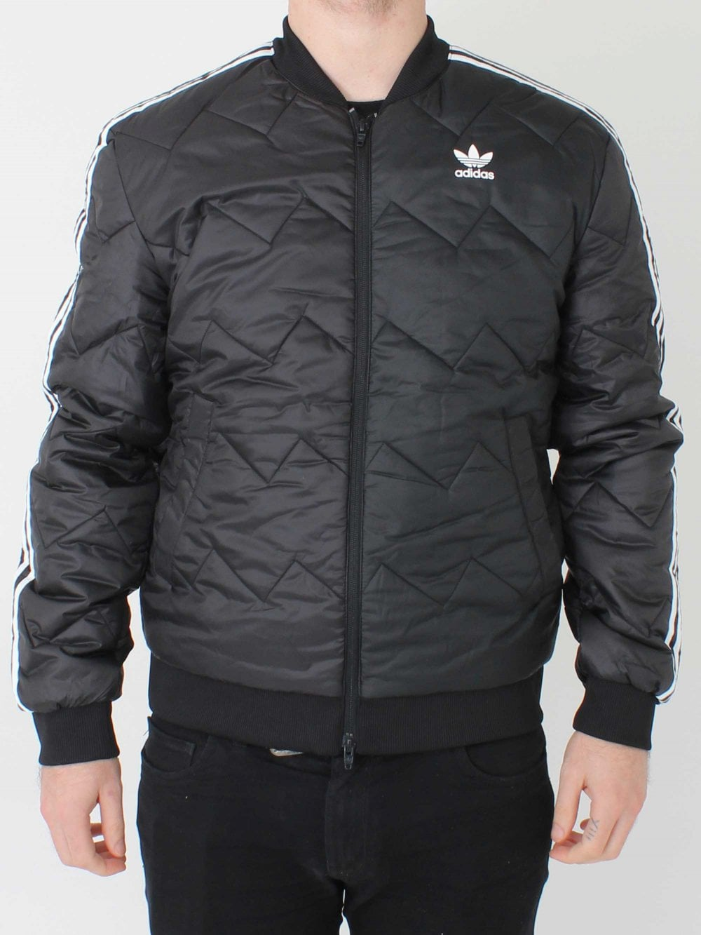 232e5f10e0 adidas Originals SST Quilted Jacket in Black | Northern Threads
