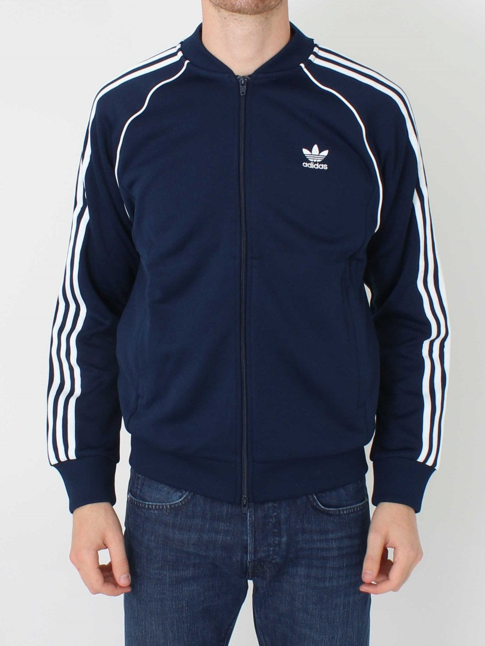 Adidas SST Track Top in Navy  33ed100b4d7a