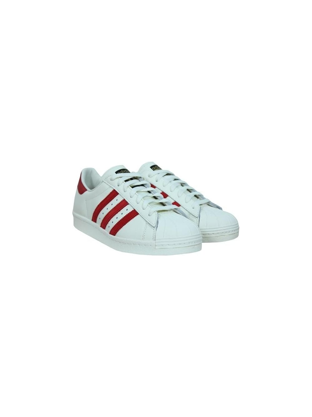 ce2d4c4a7998 Adidas Superstar 80 s DLX in White Scarlett - Northern Threads