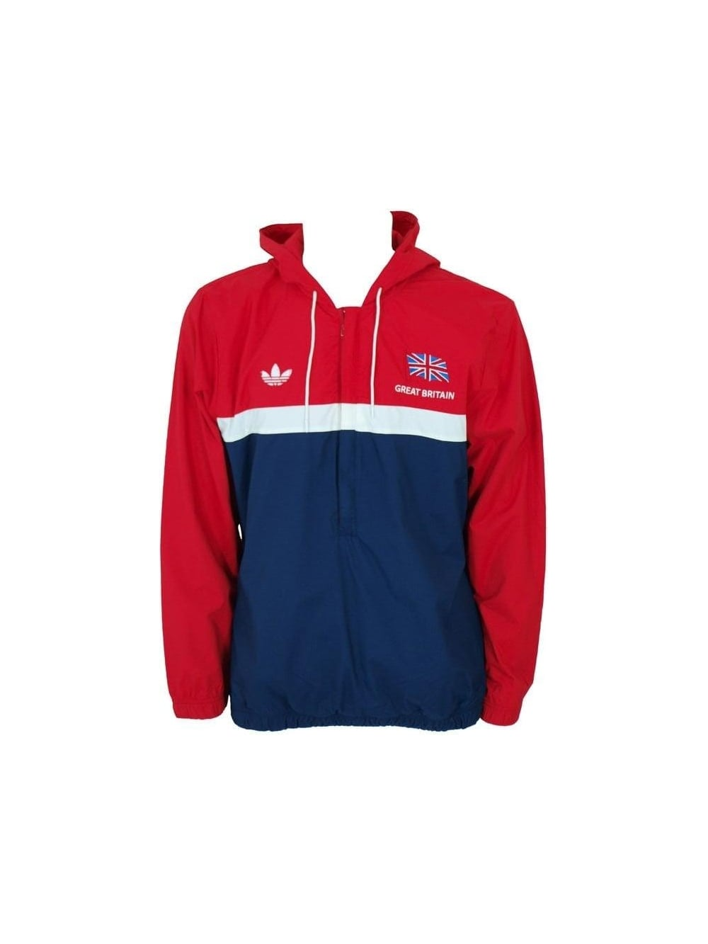 Mens Adidas Originals Team Gb Archive Track Jacket Red White Blue