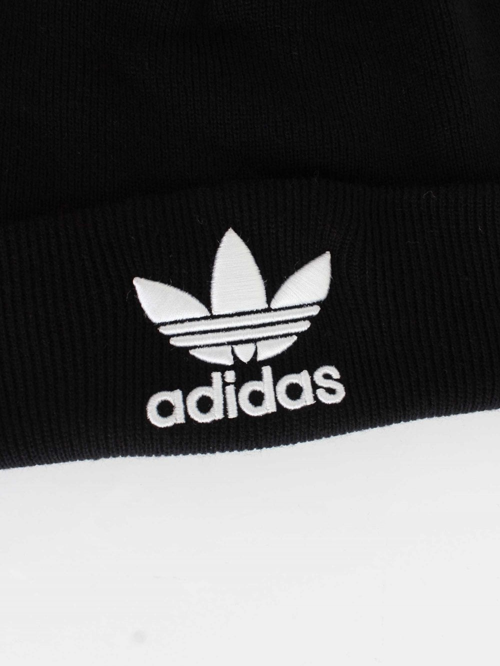 Adidas Trefoil Beanie in Black  cbfca003021d