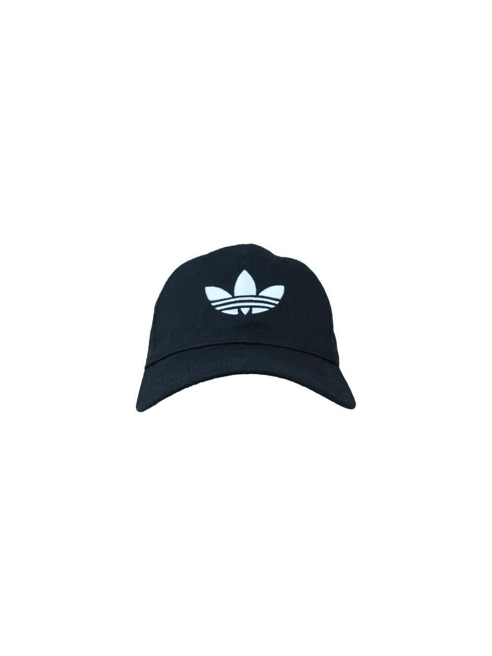 2878065cdbeb adidas Originals Trefoil Cap in Black - Northern Threads