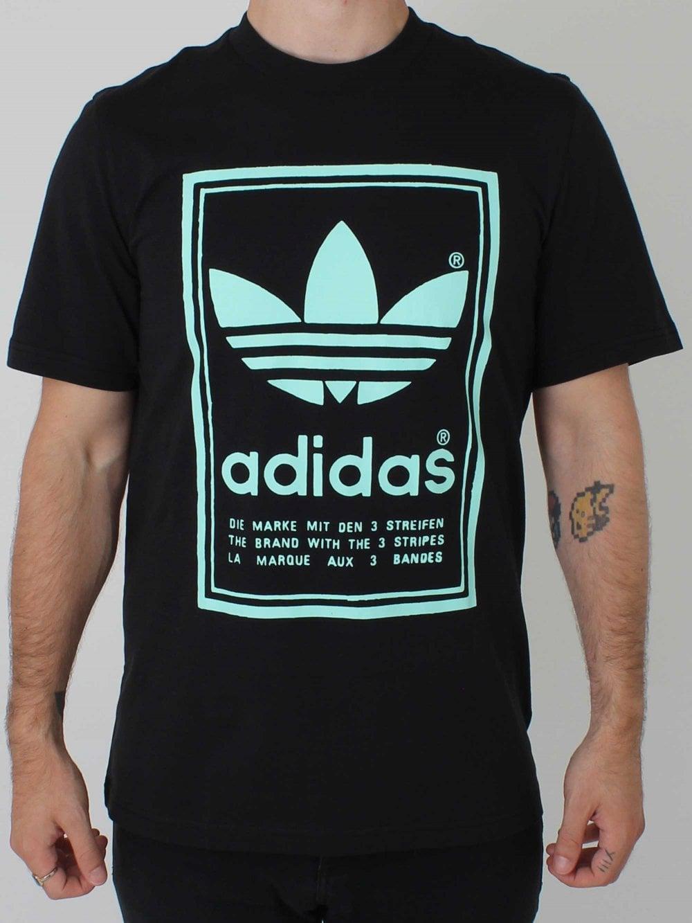 fabbricazione abile abbastanza economico aspetto elegante adidas Originals Vintage T-Shirt in Black | Northern Threads