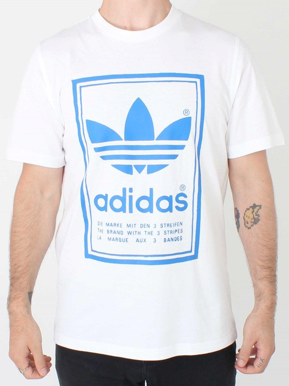 afca3865 adidas Originals Vintage T-Shirt in White | Northern Threads