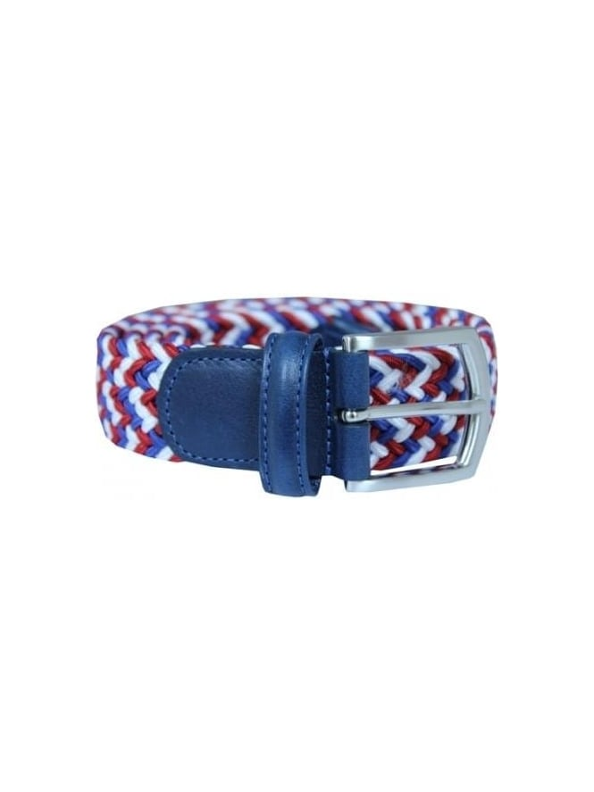 Anderson's Woven Textile Belt - Red And Blue