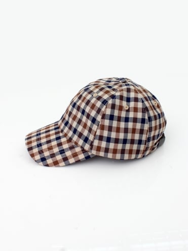 Abbott Club Check Cap - Vicuna