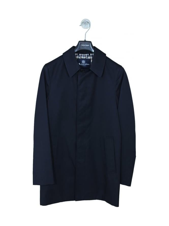 Aquascutum Berkley S/B Raincoat - Navy