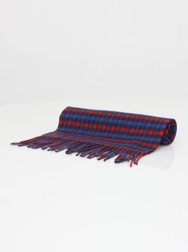 Club Check Lambswool Scarf - Red