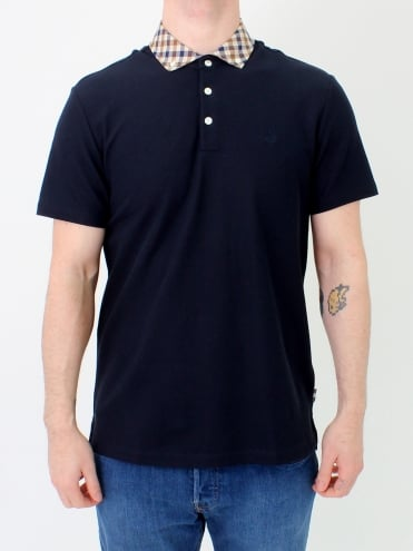 Coniston Club Check Polo - Navy